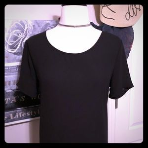 Lush Tops - Lush Black Tunic/Blouse w/Cute Feature at the back